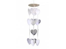 Pärlikarbid - tuulekell - valged südamed